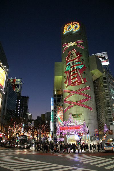 Crossroads at Shibuya 109.  Tokyo, Japan.