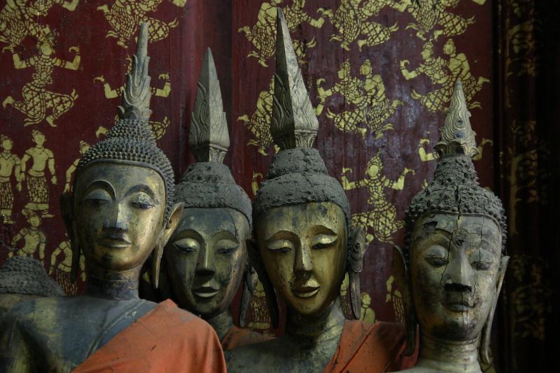 Jousting for a view, Wat Xieng Thong, Luang Prabang, Laos.
