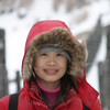 "Smile!  You can see the snow blowing across her face.  Jigokudani or ""Hell Valley""."