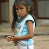 stealing a peek.  Luang Prabang, Laos.