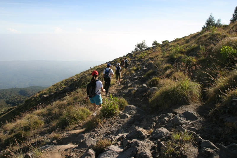 Starting our descent.  Mount Rinjani, Lombok, Indonesia.