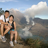 Yes!! Finally at the crater rim!!  Mount Rinjani, Lombok, Indonesia.