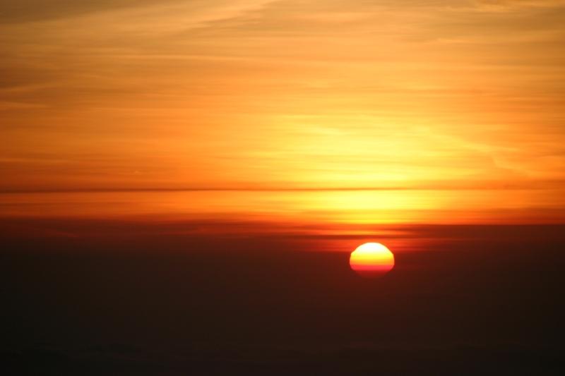 Sunset at Mount Rinjani, Lombok, Indonesia.