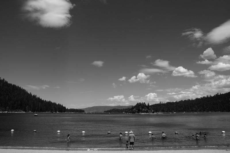 Beach by Lake Tahoe Emerald Bay.