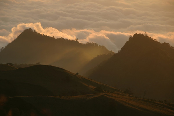 It's starting to get cold too. Mount Rinjani, Lombok, Indonesia.