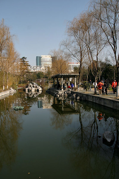 One of the many lakes at the Presidential Palace.  Nanjing, China.