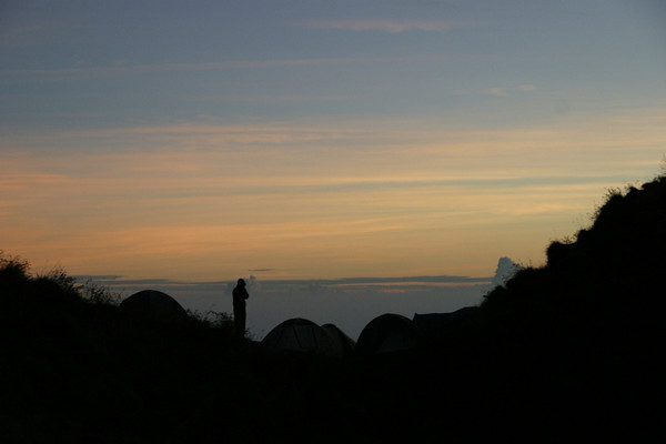 Wakey wakey! Rise and shine! And not to mention the sore muscles. =P Mount Rinjani, Lombok, Indonesia.