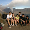 The group with our guide.  Mount Rinjani, Lombok, Indonesia.