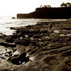 Rocky beach of Tanah Lot. Bali, Indonesia.