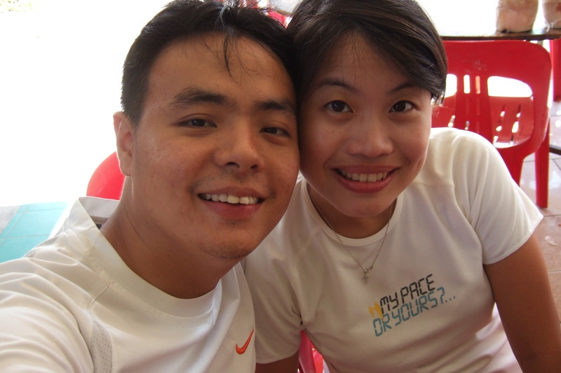 Me and QH waiting for lunch! Hungry hungry!! Pengarang, Malaysia.