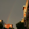 Rainbow while walking to Fisherman's Wharf. San Francisco.