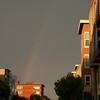Rainbow while walking to Fisherman's Wharf. San Francisco.