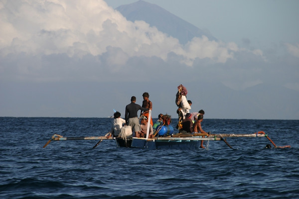 I'm not sure what they are really doing.  Fishing?  Lombok, Indonesia.