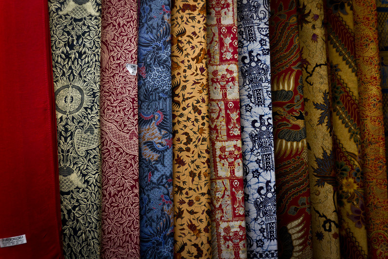 Batik for sale.
