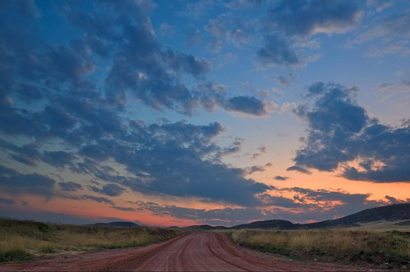 Laramie Foothills Evening Pastels