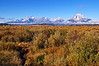 Cloud Shrouded Tetons from Willow Flats
