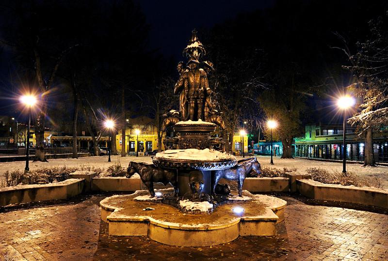 A Snowy Santa Fe Eve at Cathedral Park