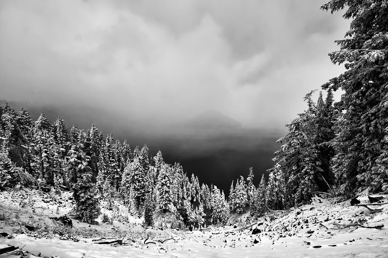 Early Snow on Crater Lake's Rim