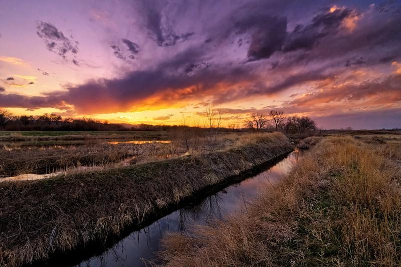 Sundown at Running Deer Natural Area