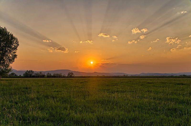 Arizona Wildfire-Influenced Sunset Sublime