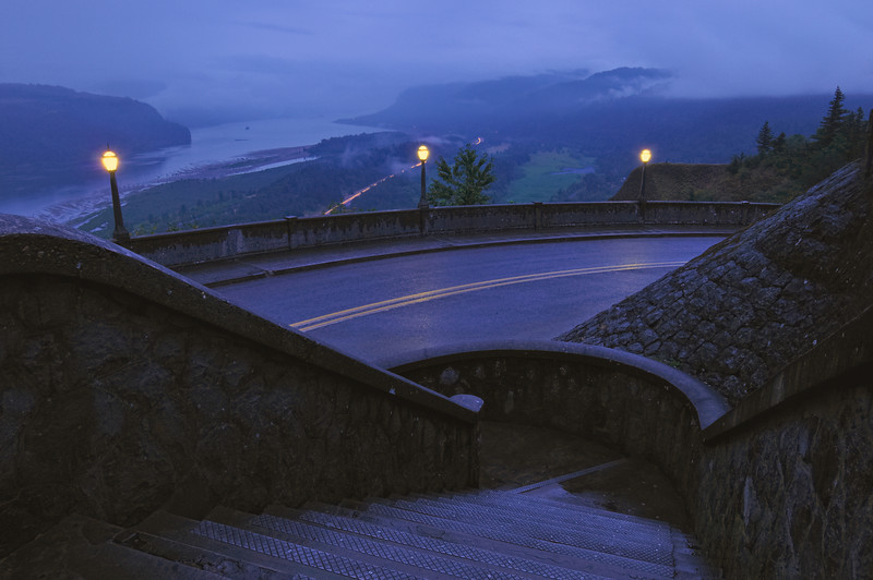 Stepping into Night at the Historic Columbia River Highway