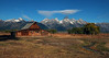 Mormon Row Barn and Tetons in Mid Morning Light