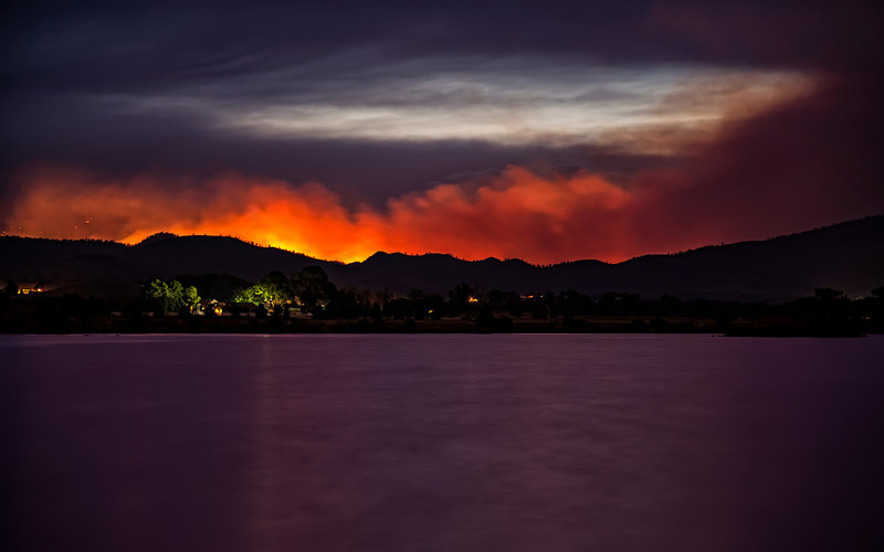 Enflamed Foothills of the Hewlett Fire