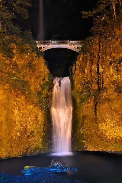 Lower Multnomah Falls Night Flow