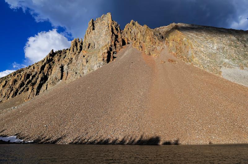 Nokhu Crags at Lake Agnes
