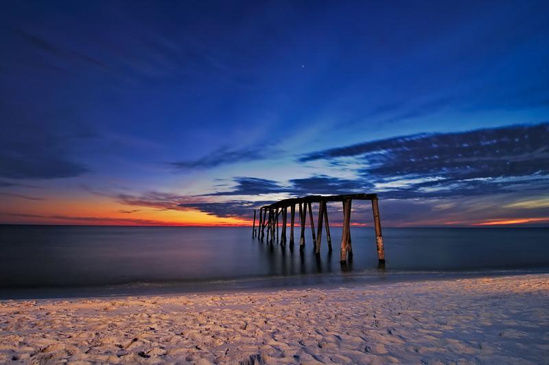 'Piering' into Evening Gulf Coast Blues