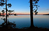 Yellowstone Lake Silhouettes