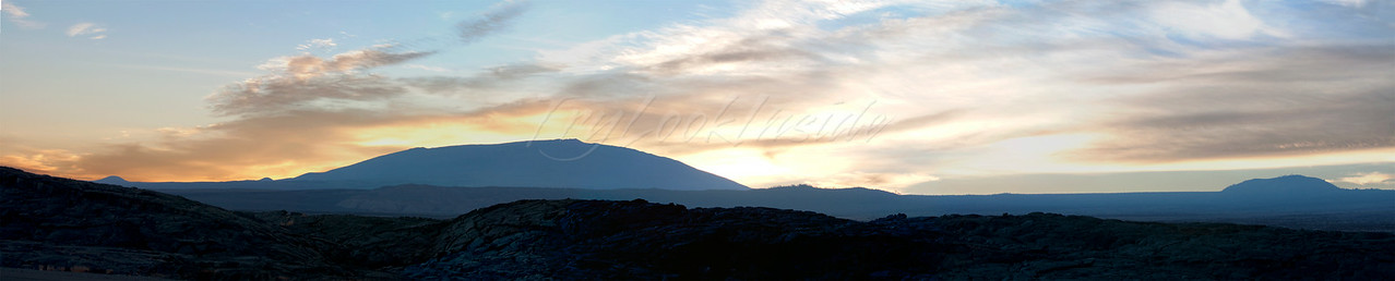 Kalaemano, Mauna Kea and Pu'uwa'a Wa'a at sunrise.