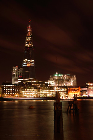 View of The Shard from North Bank, London