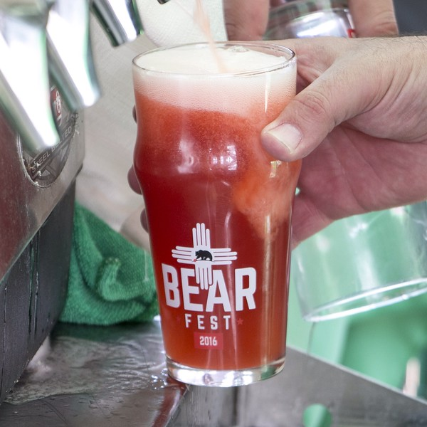 Strawberry Gose pint at Bear Fest