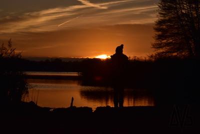 Sunset on Frensham Lake