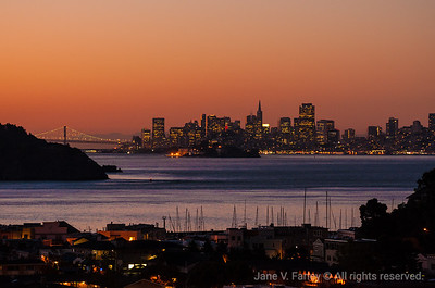 Tiburon Sunrise View of SF