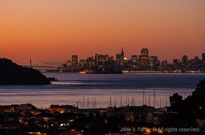 Tiburon Sunrise View of SF