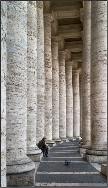 Homeless in the God's headquarters (Vatican, Italy 2006)
