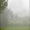 Neighbor in fog (Lipnica Wielka, Poland)
