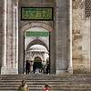 Leaving mosque (Istanbul, Turkey)