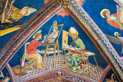 Ceiling fresco (Andrea De Litio, 1460 and later)