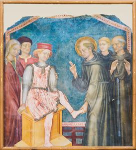 Fresco attributed to Gentile da Fabriano