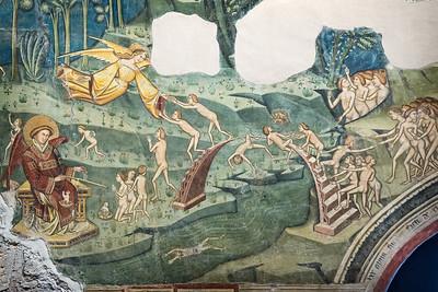 Visione dell'Oltretomba - Ponte del Capello, Fiume di pece bollente