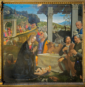 Domenico Ghirlandaio: The Adoration of Shepherds (ca. 1485)