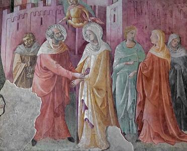 Lorenzo Monaco: Incontro alla Porta d'Oro  (fragment, ca 1420)