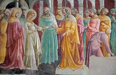 Lorenzo Monaco: Sposalizio della Vergine (fragment, ca 1420)