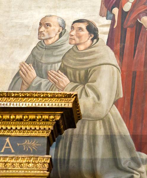 Domenico Ghirlandaio:  The resurrection of the Boy (fragment, ca 1485)