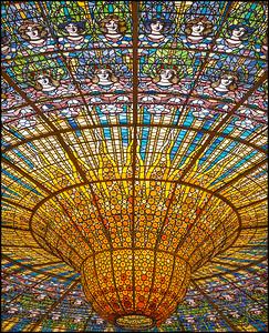 Ceiling window in the music auditorium