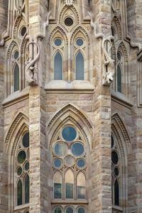 Antoni Gaudí's Basilica of the Sagrada Familia, North Side, Barcelona, Spain 2015
