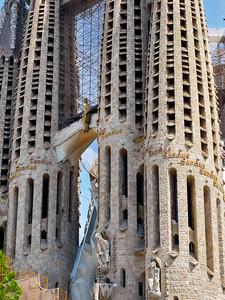 Antoni Gaudí's Basilica of the Sagrada Familia, Towers, Barcelona, Spain 2015